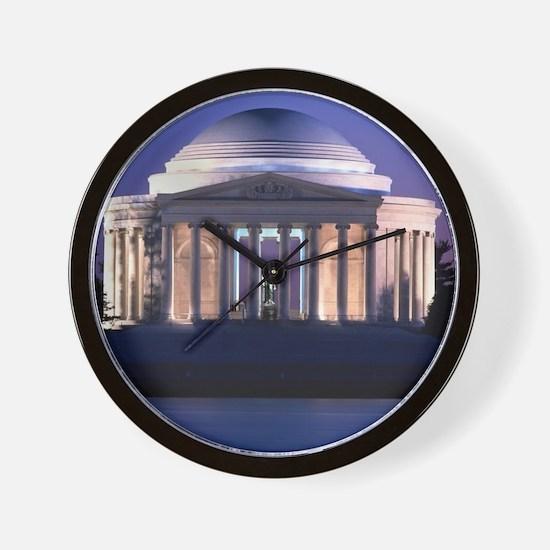 Thomas Jefferson Memorial at Dusk Wall Clock