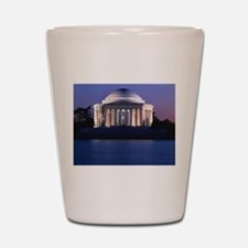 Thomas Jefferson Memorial at Dusk Shot Glass