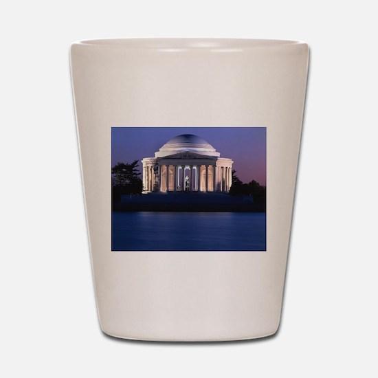 Thomas Jefferson Memorial at Dusk Shot Glass