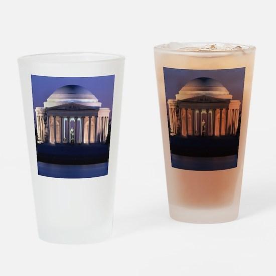 Thomas Jefferson Memorial at Dusk Drinking Glass