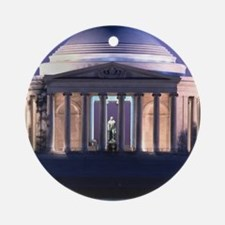 Thomas Jefferson Memorial at Dusk Ornament (Round)