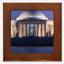 Thomas Jefferson Memorial at Dusk Framed Tile