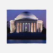 Thomas Jefferson Memorial at Dusk Throw Blanket