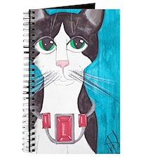 Tuxedo Cat art Journal