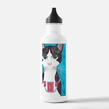 Tuxedo Cat art Water Bottle