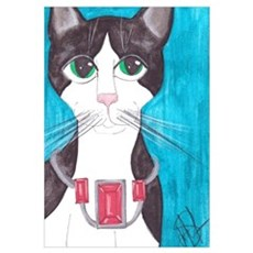 Tuxedo Cat art Canvas Art