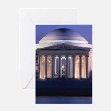 Thomas Jefferson Memorial at Dusk Greeting Cards