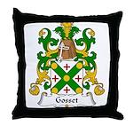 Gosset Family Crest  Throw Pillow