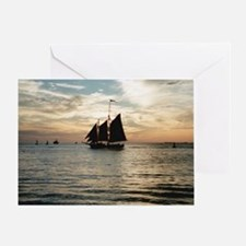 Cute Boat pictures Greeting Card