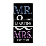 Mr and mrs Beach Towels
