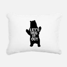 Let's hug it out, Bear Hug Rectangular Canvas Pill