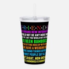 Friends Characters Acrylic Double-wall Tumbler