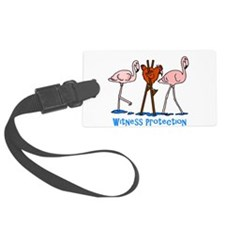 Witness Protection Flamingos and Luggage Tag