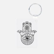 Hamsa Hand - Black Keychains