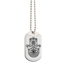 Hamsa Hand - Black Dog Tags