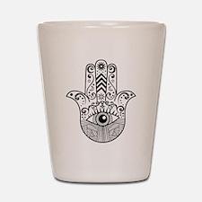 Hamsa Hand - Black Shot Glass