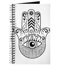 Hamsa Hand - Black Journal