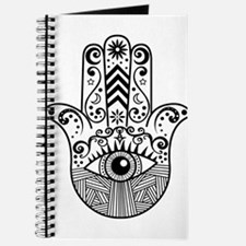Hamsa Hand - Black Journal