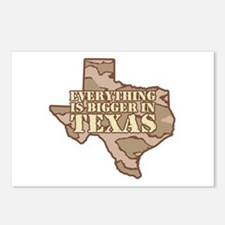 Everything Is Bigger In Texas Postcards (Package o