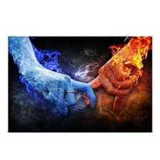 Funny Blue flame Postcards (Package of 8)