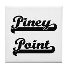 Piney Point Classic Retro Design Tile Coaster