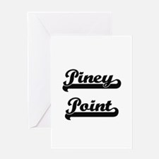 Piney Point Classic Retro Design Greeting Cards