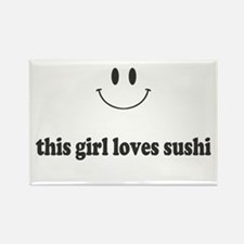 This Girl Loves Sushi Magnets