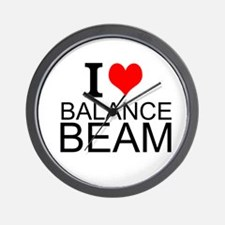 I Love Balance Beam Wall Clock