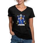Gobert Family Crest Women's V-Neck Dark T-Shirt