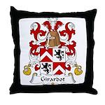 Girardot Family Crest Throw Pillow