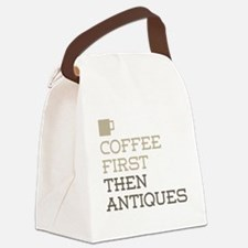 Coffee Then Antiques Canvas Lunch Bag