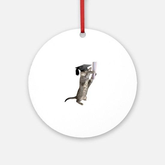 Kitten Graduation Ornament (Round)