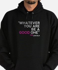 Abe Lincoln Quote Hoodie (dark)