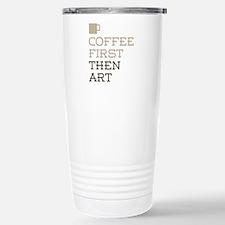 Coffee Then Art Stainless Steel Travel Mug