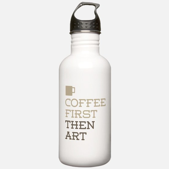 Coffee Then Art Water Bottle