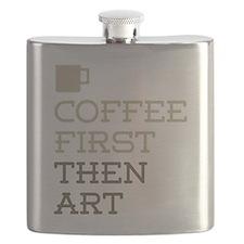Coffee Then Art Flask