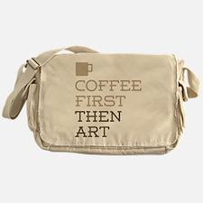 Coffee Then Art Messenger Bag