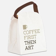 Coffee Then Art Canvas Lunch Bag