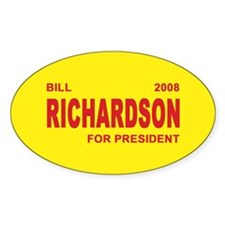 BILL RICHARDSON PRESIDENT 2008 Oval Decal