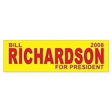 BILL RICHARDSON PRESIDENT 2008 Bumper Bumper Sticker
