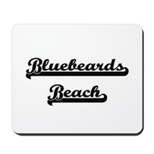 Bluebeards Beach Classic Retro Design Mousepad