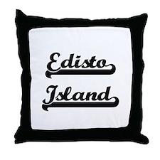 Edisto Island Classic Retro Design Throw Pillow