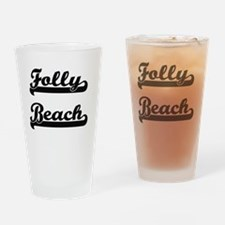 Cute Folly beach south carolina Drinking Glass
