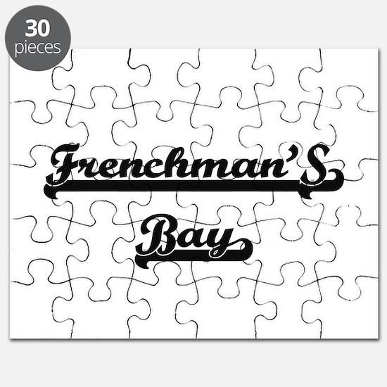Frenchman'S Bay Classic Retro Design Puzzle