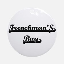 Frenchman'S Bay Classic Retro Des Ornament (Round)