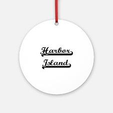 Harbor Island Classic Retro Desig Ornament (Round)