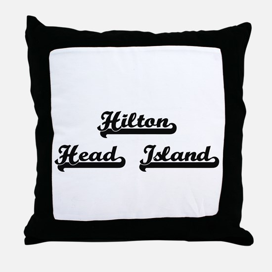 Hilton Head Island Classic Retro Desi Throw Pillow