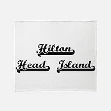 Hilton Head Island Classic Retro Des Throw Blanket