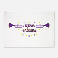New Orleans trumpets 5'x7'Area Rug