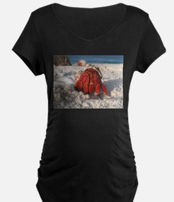Friendly Hermit Crab Maternity T-Shirt